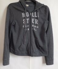 HOLLISTER BY ABERCROMBIE Medium Hoodie Grey UK 10-12 Graphic Good Condition