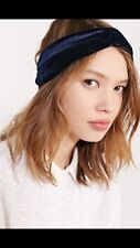 NEW Free People Urban Outfitters Midnight Solstice Blue Velvet Headband Wrap