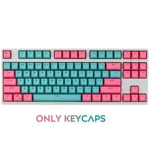 61Keys Miami OEM Profile PBT Double Shot Keycaps for 60% MX Mechanical Keyboard
