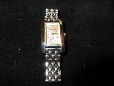 EMPORIO ARMANI Women's Watch Silver Tone Rectangular Chain Linked Band Vintage