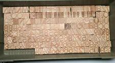 "1"" Letterpress wooden Letters Professional Quality printing blocks1 3/8"" 234pcs"