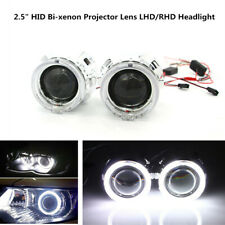 "2.5"" HID Bi-xenon Projector Lens LHD/RHD Headlight w/Light Guide Angel Eye Handy"