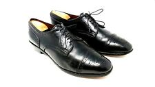 Allen Edmonds Half Brogue Cap-Toe Oxfords Dress Shoes Black Mens Size 10.5 D C1B