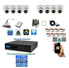 8Ch Tribrid Tvi up to 5Mp Dvr 8x2.4Mp 1080p Sony Cmos Tvi 4in1 Cameras 2Tb Hdd