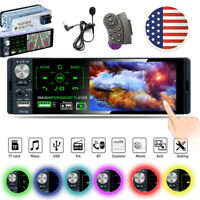 "4.1"" Single 1DIN Car Stereo Radio Bluetooth FM USB Head Unit MP5 Player +MIC"