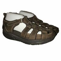 Skechers Shape-Ups Brown Leather Sandals Men's 9
