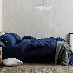 NANKO Duvet Cover Queen Set 3 Pieces 1200 TC Luxury Microfiber Down Comfort FAST