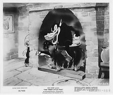 THE THREE LITTLE PIGS original DISNEY publicity photo BIG BAD WOLF