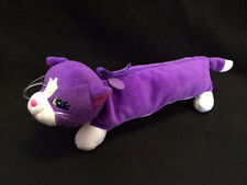 Lisa Frank Purple White Kitty Cat Soft Plush Pen Pencil Case School Art Make Up