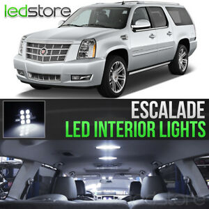2007-2014 Cadillac Escalade White Interior LED Lights Kit Package