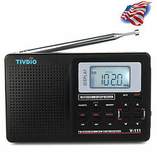 Full Band Fm stereo/Mw /Sw Dsp Radio World Band Receiver sound Alarm Us Ship