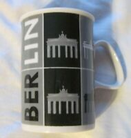 Berlin Design Ceramic Coffee Mug  Black White