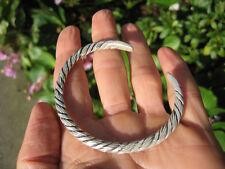 Hand Made 950 to 999 fine silver Karen hill tribe bangle bracelet Thailand A124