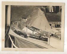 Model Railroad Train Setup, Lionel? Steam Electric Enegines Photograph