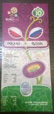 EURO 2012. Poland vs. Russia 12/6/2012. Original Ticket. Match in Warsaw.