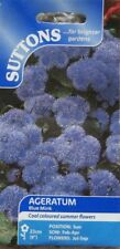 SEEDS SUTTONS FLOWER  AGERATUM BLUE  MIX SOW BY 6/2018 RRP £1.75