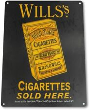 Will's Cigarettes Tobacco Smoking Retro Vintage Decor Man Cave Metal Tin Sign