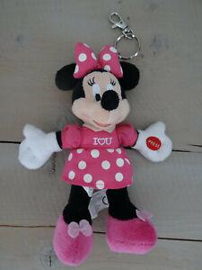 Porte clé / peluche Disney Minnie Mouse rose