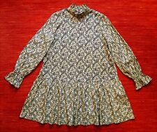 & Other Stories dress - tiered mini style - printed cupro fabric - size 40/M
