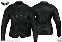 NEW WOMENS STURGIS MOTORCYCLE LEATHER JACKET FULL CE ARMOUR SIZES 8 to 22