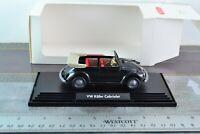 Wiking 7620139 1:40 Scale Volkswagen Beetle Convertible Black Car