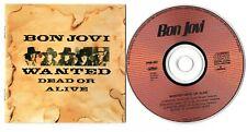 Bon Jovi Maxi-CD WANTED DEAD OR ALIVE ©1986 JAPAN 4-track Mercury PPDM-1003