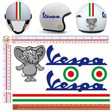 Adesivi casco elefante italia vespa sticker helmet elefant italian flag 6 pz.