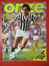Magazine ONZE n°82 OCTOBRE 1982 PLATINI Larios BRESIL Les Canaris FERRERI Lens