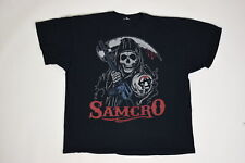 Sons Of Anarchy 2XL Short Sleeve Solid Samcro Black Cotton Casual Men Tee Shirt
