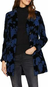 Joe Browns WJ187A Beautiful Velvet Coat Black/Blue