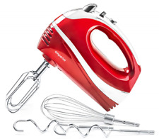 Emperial Hand Mixer Electric Food Blender Whisk Beater 5 speed 300W Red