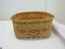 "Hand Made Square Wicker Basket with Heart 9"" Diameter"