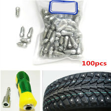 100 Pcs Auto Car Tire Tyre Stud Screws for Winter Anti-Slip + Sleeve Hand Tool