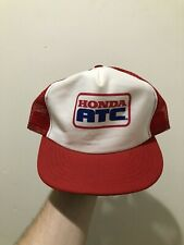 Vintage 70s 80s HONDA ATC Mesh Snapback Trucker Hat Cap Made In USA ATV RARE