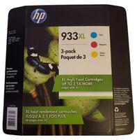 HP 933XL Original Tri-Color Ink Cartridge Yellow Cyan Magenta ( EXP: June 2020 )