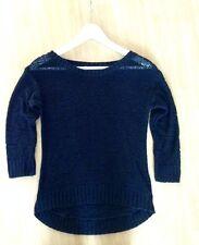 H&M Top Pullover Pullunder XS 34 Schwarz Impression Vintage Boho Classic Basic