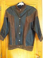 manteau de style blouson de cuir/daim Taille S