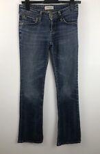 Levi's 572 Ladies Blue Wash Boot Cut Jeans Size W28 Trousers Denim