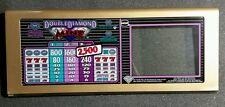 IGT Vision Slant Top Slot Machine DOUBLE DIAMOND MINE Glass w/ Door or Mount