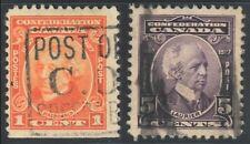 2x #141 & #144 CANADA Sir John Macdonald & Wilfrid Laurier Stamps Used cv=$4.80