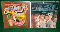Roy Rogers The Bible Tells Me So + Dwight Thompson Sings TWO LP Vinyl Albums