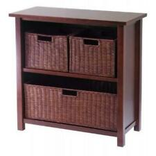 Milan 4pc Cabinet/shelf With 3 Baskets by Winsome Wood