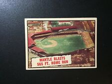 1961 Topps #406 Mantle Blasts 565 Ft. Home Run VGEX