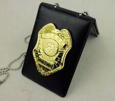 RESIDENT EVIL BIOHAZARD S.T.A.R.S. STARS RACCOON POLICE DEP GOLD BADGE ID Holder