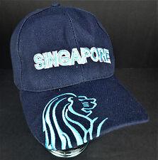 Singapore Lion Blue Cap Hat Merlion