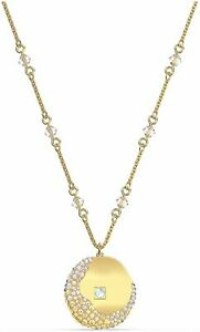 SWAROVSKI Authentic The Elements Pendant, Yellow, Gold Plated
