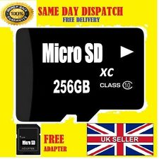 256GB MICRO SD MEMORY CARD CLASS 10 FLASH MEMORY SDHC per cellulari e tablet