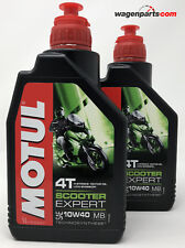 Lubricante Mineral Motor Motul Scooter 4T 10W40 MB moto ciudad, pack 2 Litros