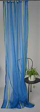 Gardine Vorhang Store Schal Voile Universalband Halbtransparent 140/245 cm Blau