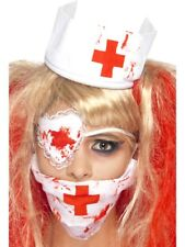 Halloween Nurse Kit Blood Zombie Horror Ladies Fancy Dress Accessory Set